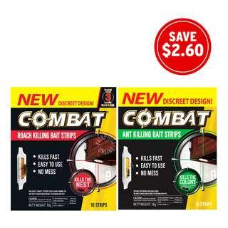 Combat Bait Strip Insecticide Bundle Set