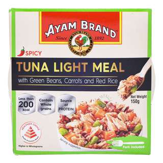 AYAM BRAND TUNA LIGHT MEAL WITH GREEN BEANS CARROTS RED RICE 150G