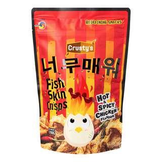 Crusty's Fish Skin Crisps - Hot & Spicy Chicken
