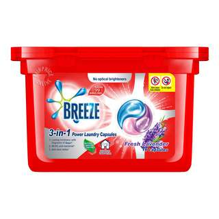 Breeze 3-in-1 Power Laundry Capsules - Fresh Lavender