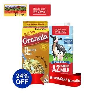 Sweet Home Granola & Australia's Own Milk Bundle - Honey Nut
