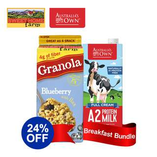 Sweet Home Granola & Australia's Own Milk Bundle - Blueberry