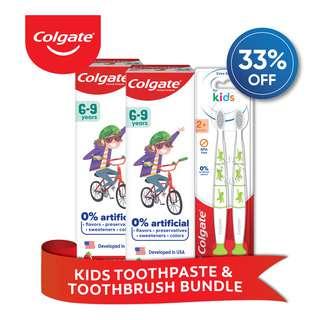 Colgate Kids Toothpaste & Toothbrush Bundle Set