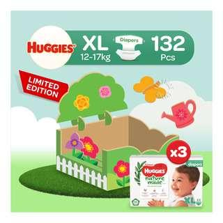 Huggies Baby Platinum Naturemade Tape Diapers - XL (12-17kg)