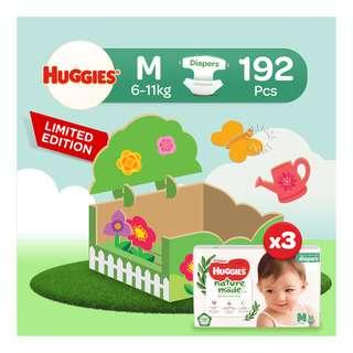 Huggies Baby Platinum Naturemade Tape Diapers - M (6-11kg)