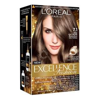 L'Oreal Paris Excellence Hair Colour - 7.1 BeigeLightBrown