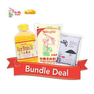 Songhe Rice + Rice Field Oil Bundle Set - 1