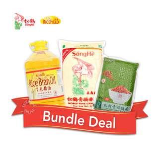 Songhe Rice + Rice Field Oil Bundle Set  - 2