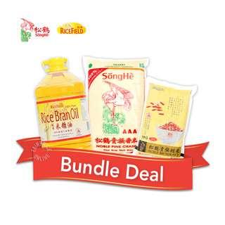Songhe Rice + Rice Field Oil Bundle Set - 3
