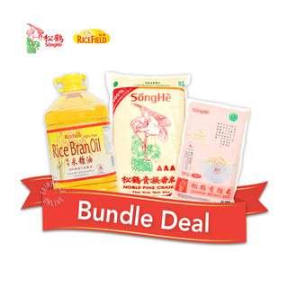 Songhe Rice + Rice Field Oil Bundle Set  - 4