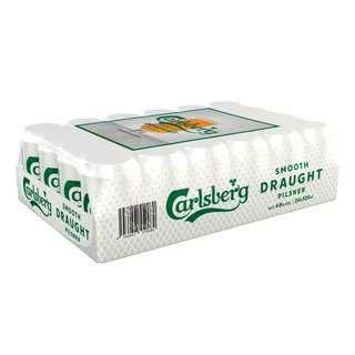 Carlsberg Smooth Draught Can Beer - Pilsner