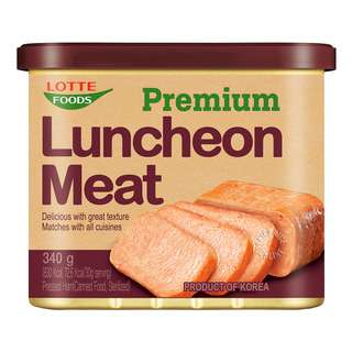 LOTTE PREMIUM LUNCHEON MEAT 340G