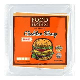 FD4 FRIEND FOOD FOR FRIENDS SLICED CHEESE CHEDDAR SHARP 160G