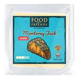 FD4 FRIEND FOOD FOR FRIENDS SLICED CHEESE MONTEREY JACK 160G