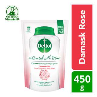 Dettol Co-Created with Moms Body Wash Refill - Damask Rose