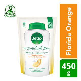Dettol Co-Created with Moms Body Wash Refill - Florida Orange