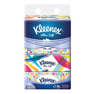 Kleenex Facial Tissue Soft Pack - Ultra Soft (3ply)