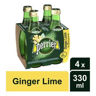 Perrier Sparkling Mineral Bottle Water - Ginger Lime
