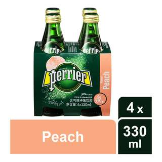 Perrier Sparkling Mineral Bottle Water - Peach
