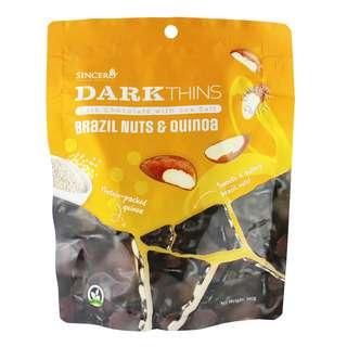 Sincero Dark Thins Dark Chocolate - Brazil Nuts & Quinoa