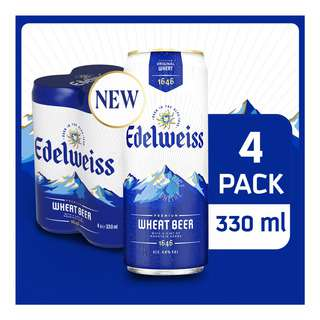 EDELWEISS CAN PACK 6X4S 330ML