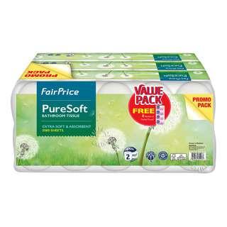 FairPrice Pure Soft Bathroom Tissue - 2 Ply
