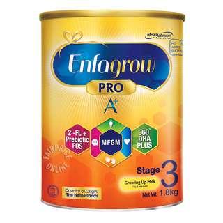 Enfagrow Pro A+ Growing Up Milk Powder Formula - Stage 3
