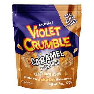 Violet Crumble Candy Honeycomb - Caramel (Bite Size)