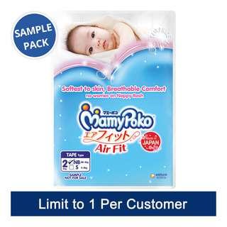 (Sample) MamyPoko Air Fit Diapers - New Born (0 - 5kg)