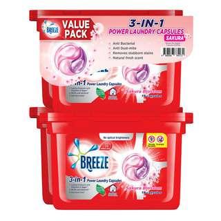 Breeze 3-in-1 Power Laundry Capsules - Sakura Blossom