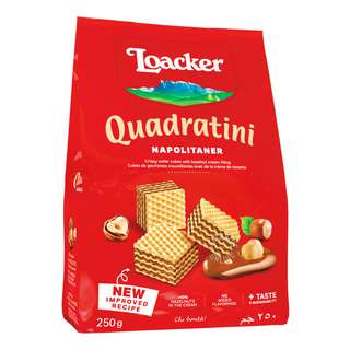 Loacker Quadratini Crispy Wafers - Napolitaner