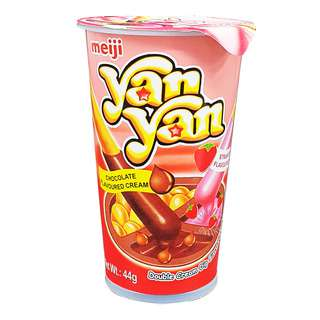 Meiji Yan Yan Stick Biscuits - Chocolate & Strawberry