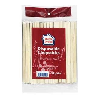 HomeProud Disposable Wooden Chopsticks