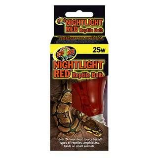 Zoo Med Nightlight Red Reptile Bulb 25W