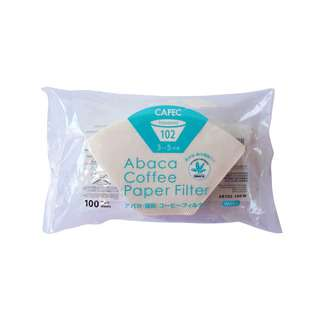 CAFEC Abaca Trapezoid Filter Paper 4Cup (White)