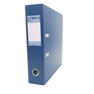 A4 PVC Arch File Blue 3