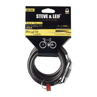 Steve & Leif Bicycle Combination Lock (8mm x 1200mm)