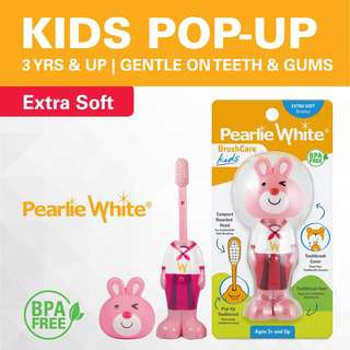 Pearlie White BrushCare Kids PopUp ExtraSoft Toothbrush Rabbit
