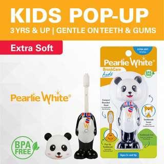 Pearlie White BrushCare Kids PopUp ExtraSoft Toothbrush Panda