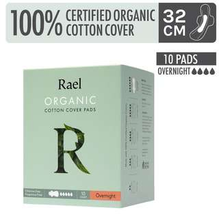 Rael Organic Cotton Cover Pads - Overnight 10s