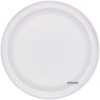 MTRADE Disposable 9 Inch White Plastic Plates