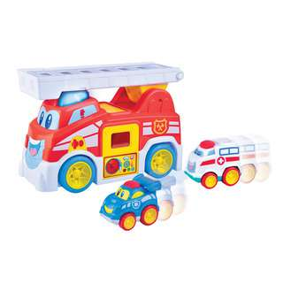 Hap-P-Kid Little Learner Vroom Vroom Fire Truck