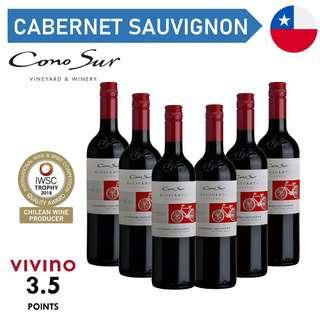 Cono Sur Bicicleta Reserva Cabernet Sauvignon Red Wine - Case