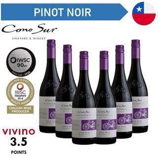 Cono Sur Bicicleta Reserva Pinot Noir - Red Wine - Case