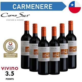 Cono Sur Bicicleta Reserva Carmenere - Red Wine - Case