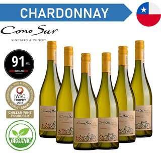 Cono Sur Organic Chardonnay - White Wine - Case