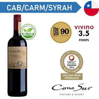 Cono Sur Organic Cab Sauv Carmenere Syrah - Red Wine
