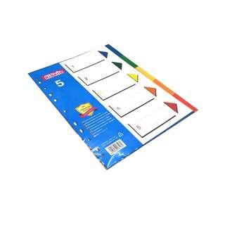 Kidario A4 Plastic Divider - 5 Tab