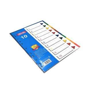 Kidario A4 Plastic Divider - 10 Tab