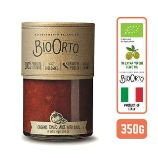 BIOORTO ORGANIC PASTA SAUCE - BASIL OLIVE OIL ITALY 350G